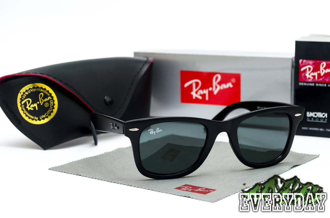 Солнцезащитные Очки Ray-Ban Wayfarer (матовые, стекло) + фирменный набор -  Интернет 0f6db823c1c