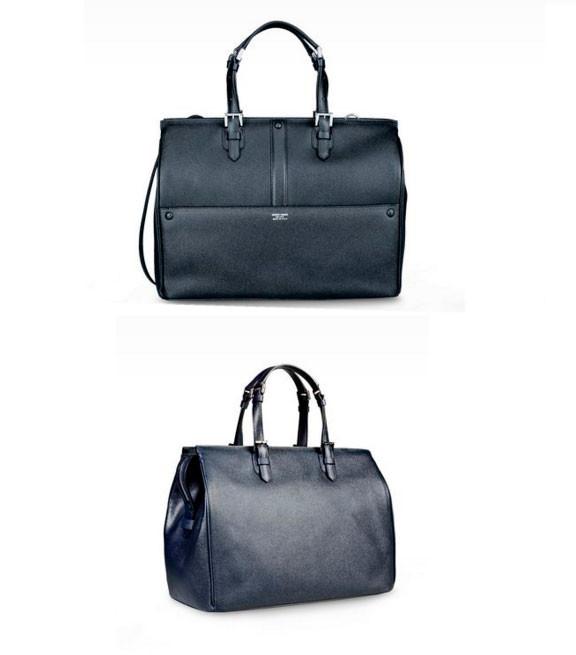 Tote Bag In Printed Calfscin By Armani Color Black