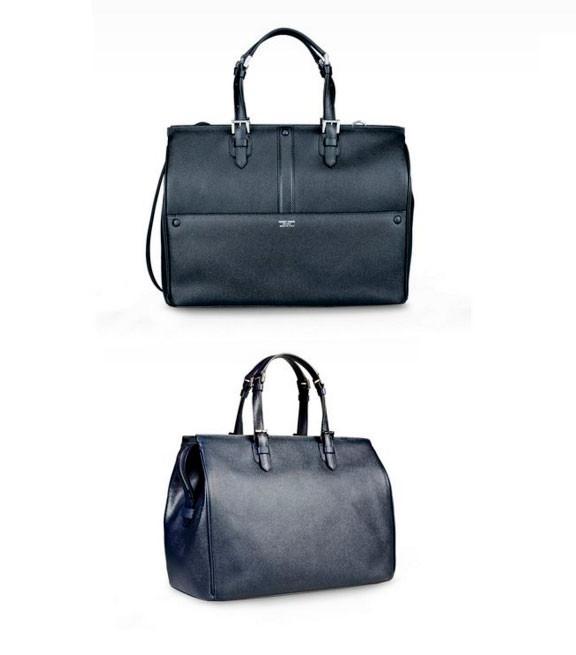 Tote Bag In Printed Calfscin By Armani Color Dark Blue
