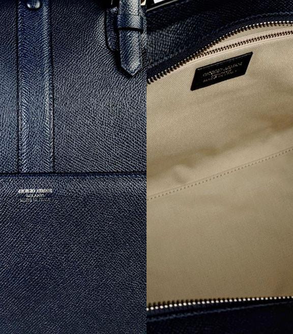 Tote Bag In Printed Calfscin By Armani Details
