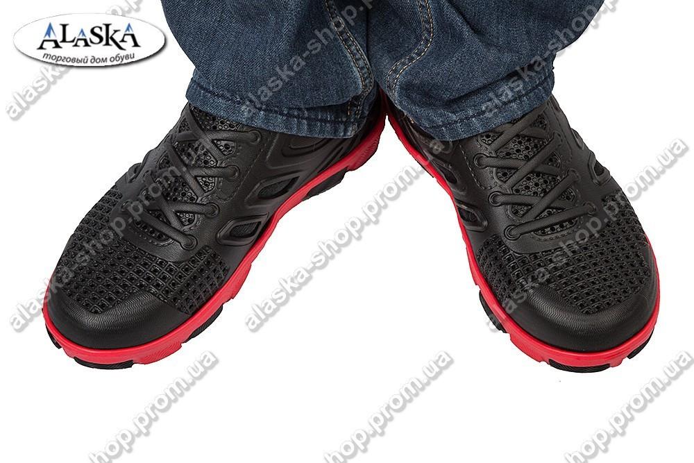 Подростковые кроссовки черно-красные (Код: Кросовки)
