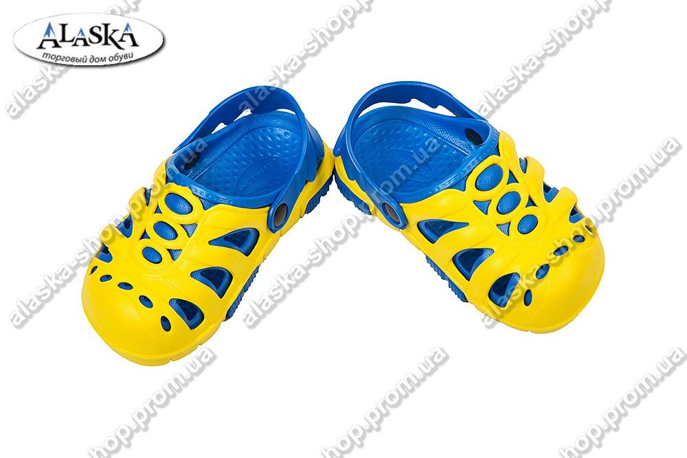 Детские сабо желто-синие (Код: Дет сабо)
