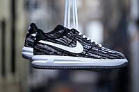 Мужские кроссовки Nike Lunar Force 1 Jacquard Black White, фото 1