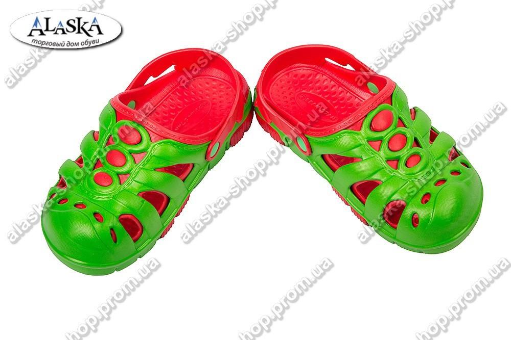 Детские сабо красно-зеленые (Код: Дет сабо)