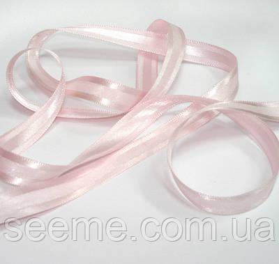 Лента сатиновая нежно-розовая, ширина 12 мм