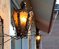 """Кованые светильники и фонари """"Старый Житомир"""" 2 на кронштейне"""
