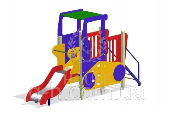 Комплекс игровой трактор с горкой, фото 2