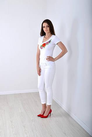 Белая футболка вышиванка, фото 2