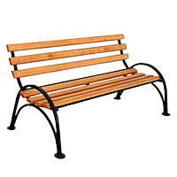 Уличная скамейка для дачи 1500х785х865 мм, металл/дерево, красивый дизайн