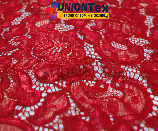 Ткань гипюр стрейчевый красный  купить в Украине оптом и в розницу ... dfbf1127679