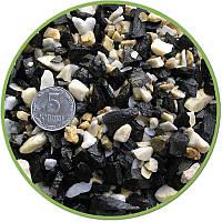 Грунт черно-белый базальт мрамор Nechay фракция 5-10мм 10кг