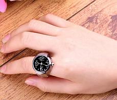 Жіночий кварцевий годинник кільце BOZHI з растягивающимся ремінцем (чорні), фото 2