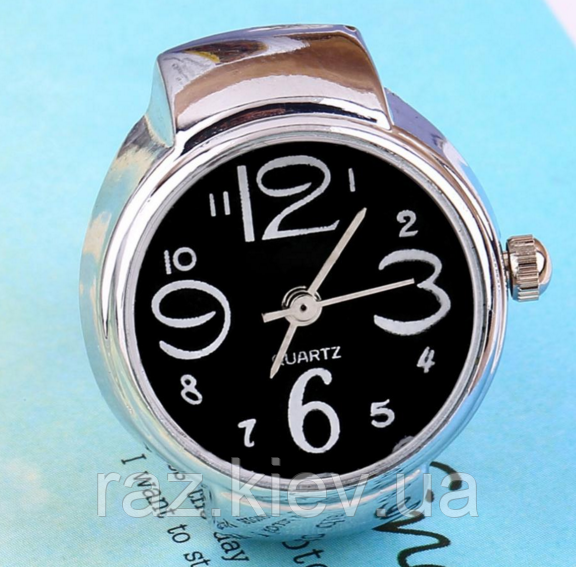 Жіночий кварцевий годинник кільце BOZHI з растягивающимся ремінцем (чорні)