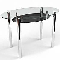 Стеклянный кухонный стол Comfy Home Ellipse