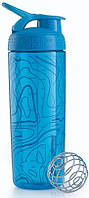 Шейкер спортивный голубой BLENDERBOTTLE SIGNATURE SLEEK 820ML