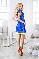 Летнее шифоновое платье 3 цвета