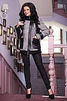 """Куртка серая женская демисезонная В - 802 """"MO 13224 + Gin"""" Тон 100"""