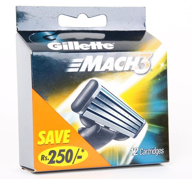 Бритвенные лезвия Gillette Mach3. В упаковке 12шт. Оригинал G I L /50-41 N