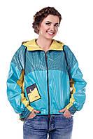 Куртка бирюзовая женская демисезонная  В - 940 Арт.102008 Тон 187