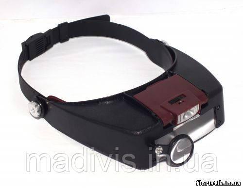 Бинокулярная налобная лупа с подсветкой MG81007-A