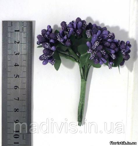 Тычинки на проволоке фиолетовые