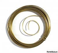 Проволока декоративная в мотке 2 мм., золото