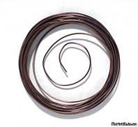 Проволока декоративная в мотке 2 мм., коричневая металлик