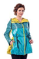 Куртка бирюзовая  женская демисезонная В - 943 Арт.102008 Тон 187
