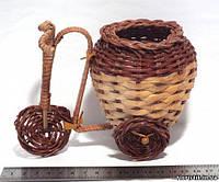 """Велосипед из лозы для декора """"Кувшин"""", 17 см."""