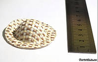 Соломенная шляпка бежевая 1
