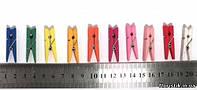 Прищепка 3,5 см. разноцветные