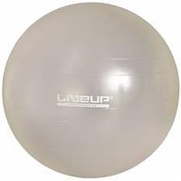 Мяч для фитнеса 75 см. (фитбол) LiveUp Ani-Burst (серый)