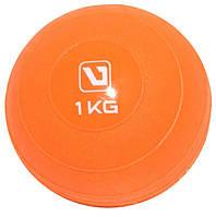 Мяч медицинский 1 кг. (медбол) LiveUp Soft Weight Ball (оранжевый)