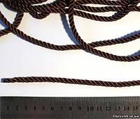 Канат декоративный, капрон, коричневый, 6 мм.