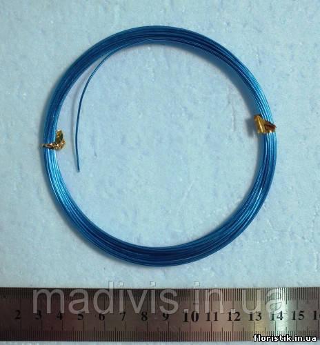 Проволока в мотках синяя 1 мм.