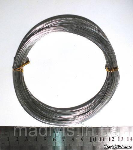 Проволока в мотках серебро 1,5 мм.