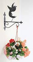 Настенная подставка для цветов Птица Пт-2