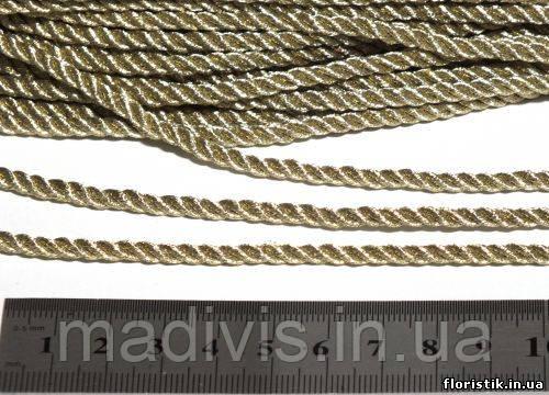 Канат декоративный парчевый золото, 3 мм.