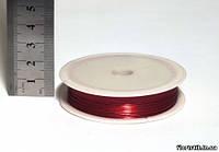 Проволока для рукоделия 0,3 мм. красная