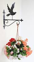 Настенная подставка для цветов Птица Пт-5