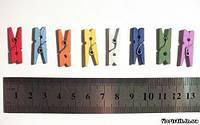 Прищепки 2,5 см. разноцвет
