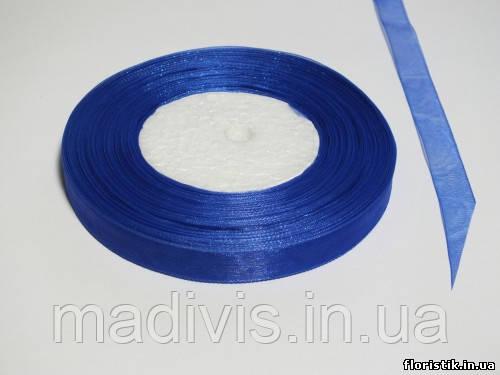 Лента органза 12 мм. синяя
