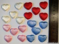 Сердечко атласное малое (разноцвет). (5 шт.)
