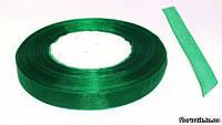 Лента органза 12 мм. зеленая