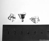 Колокольчик декоративный серебро 11 мм. (5 штук)