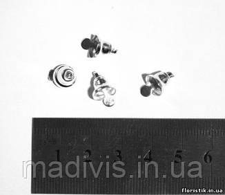 Колокольчик декоративный серебро  8 мм. (5 штук)