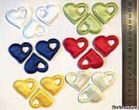 Сердечко атласное с вырезом (разноцвет)