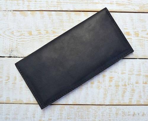 Неповторимое портмоне из натуральной кожи GBAGS W013 черный