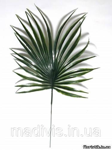 "Лист ""Пальма круглая"" пластик, 20 см."