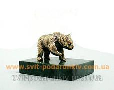 Бронзовая статуэтка Медведь, памятный сувенир, фото 3
